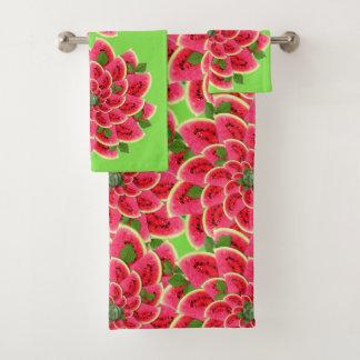 Watermelon Slices Make Flowers Bath Towel Set