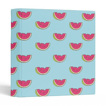 Beach Themed Watermelon Slices on Teal Pattern 3 Ring Binder