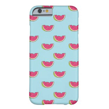Watermelon Slices on Teal Pattern Barely There iPhone 6 Case