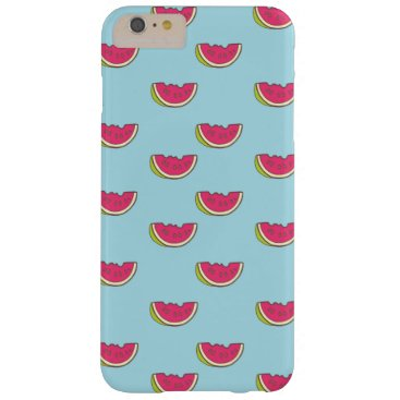Watermelon Slices on Teal Pattern Barely There iPhone 6 Plus Case