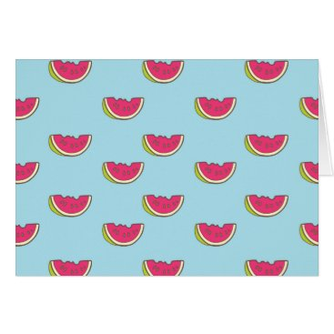 Watermelon Slices on Teal Pattern Card