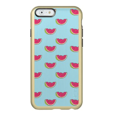 Beach Themed Watermelon Slices on Teal Pattern Incipio Feather Shine iPhone 6 Case