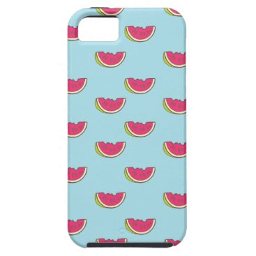 Beach Themed Watermelon Slices on Teal Pattern iPhone SE/5/5s Case