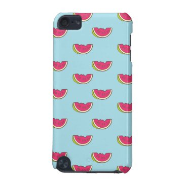 Beach Themed Watermelon Slices on Teal Pattern iPod Touch 5G Cover