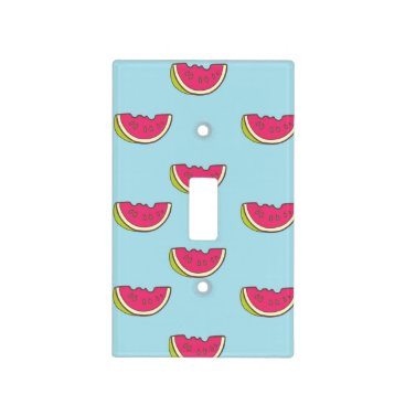 Watermelon Slices on Teal Pattern Light Switch Cover