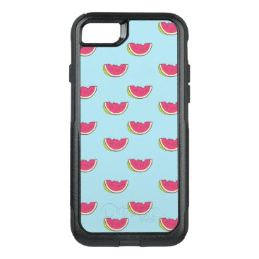 Watermelon Slices on Teal Pattern OtterBox Commuter iPhone 8/7 Case