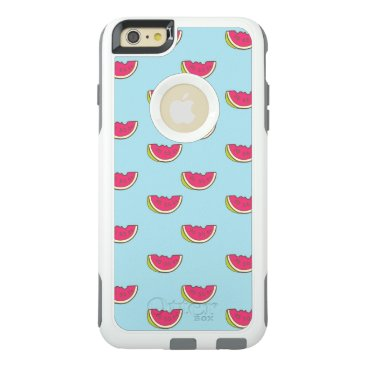 Watermelon Slices on Teal Pattern OtterBox iPhone 6/6s Plus Case