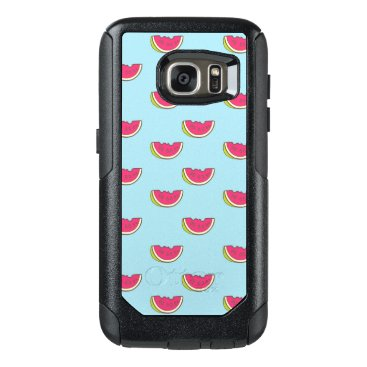 Beach Themed Watermelon Slices on Teal Pattern OtterBox Samsung Galaxy S7 Case
