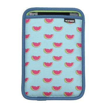 Beach Themed Watermelon Slices on Teal Pattern Sleeve For iPad Mini