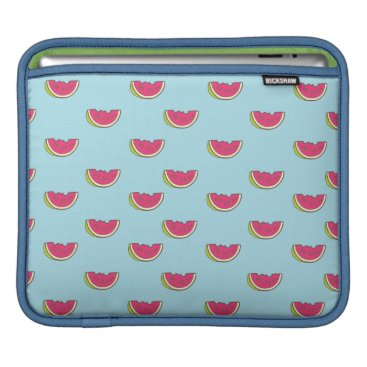 Beach Themed Watermelon Slices on Teal Pattern Sleeve For iPads