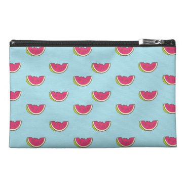 Watermelon Slices on Teal Pattern Travel Accessory Bag