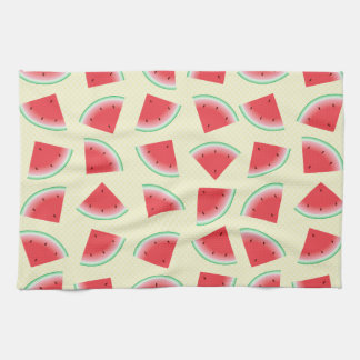 Awesome Watermelon Slices On Yellow Kitchen Towel