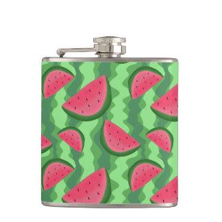 Watermelon Slices Pattern Flask