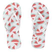 watermelon slices pattern flip flops