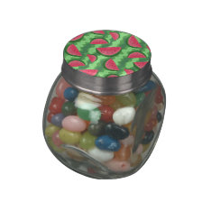 Watermelon Slices Pattern Glass Candy Jar at Zazzle
