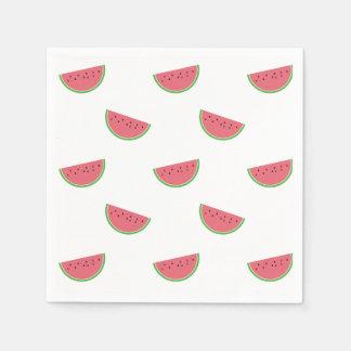 Watermelon Slices Pattern Picnic Paper Napkins