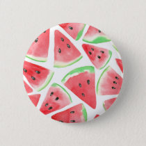 Watermelon slices pattern pinback button