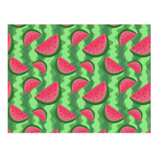 Watermelon Slices Pattern Postcards