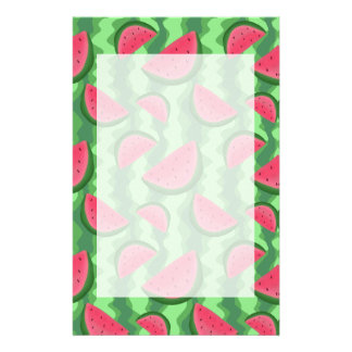 Watermelon Slices Pattern Customized Stationery