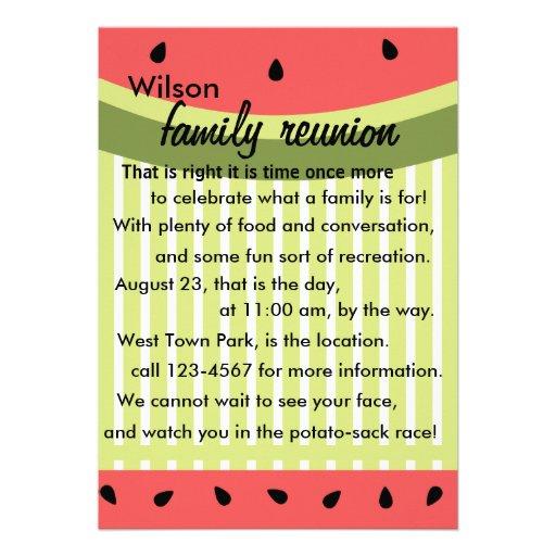 Watermelon Slices Personalized Invite