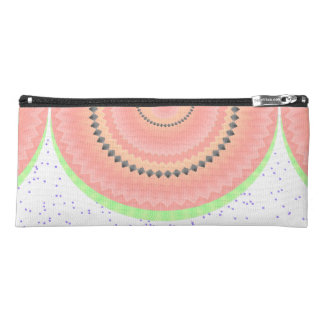 Watermelon Slices Pinwheel and Boho Seeds Look Pencil Case