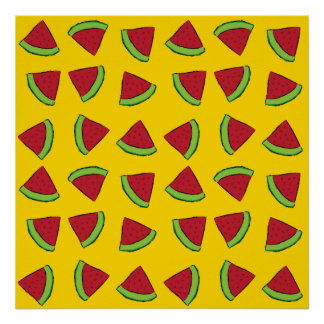 Watermelon Slices Poster
