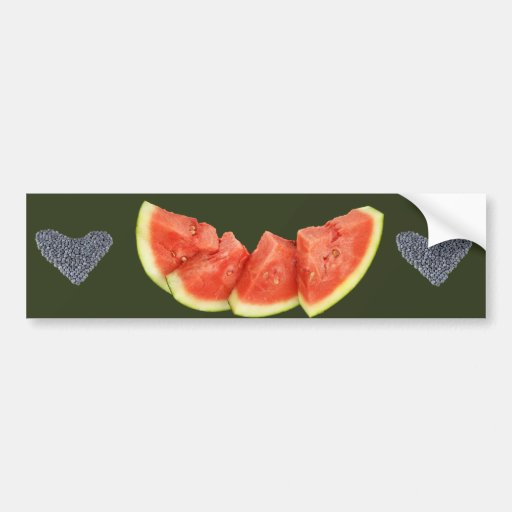 Watermelon Slices Rounded Triangles Bumper Sticker