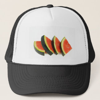 Watermelon Slices Rounded Triangles Trucker Hat