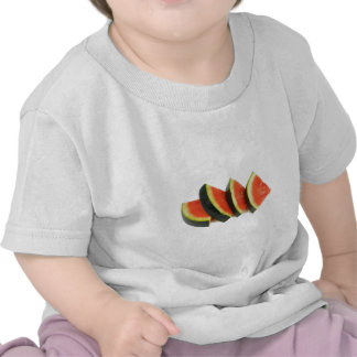 Watermelon Slices Rounded Triangles T Shirt