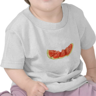 Watermelon Slices Rounded Triangles Tee Shirts