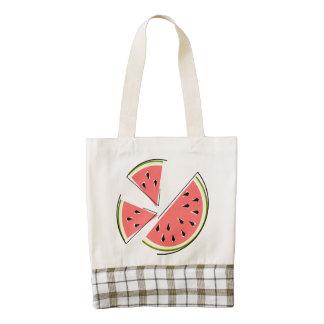Watermelon Slices Zazzle HEART tote bag