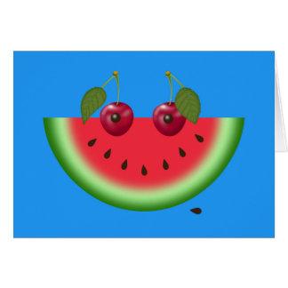 Watermelon Smile, Encouragement Greeting Card