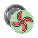 Watermelon Spiral 2 Inch Round Button