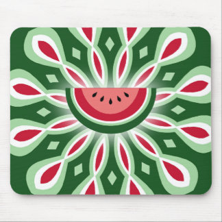 Watermelon Spiral Mouse Pad