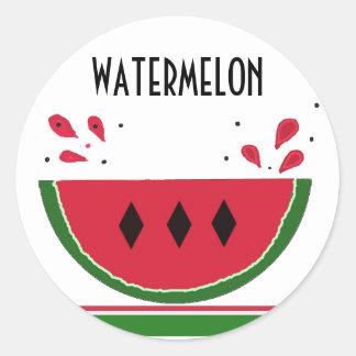 Watermelon Splash Classic Round Sticker