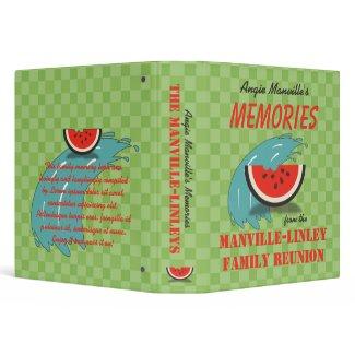 Watermelon Splash Custom 1.5 Family Reunion Binder binder