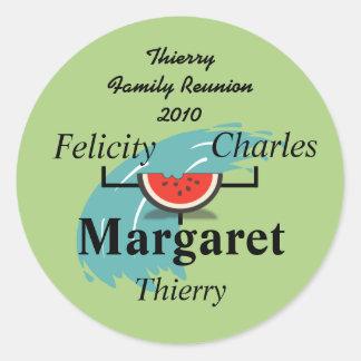 Watermelon Splash Family Tree Sticker