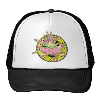 Watermelon Splash Frog Mesh Hat