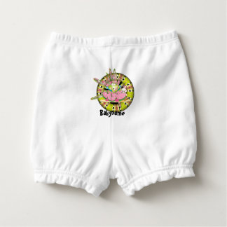 Watermelon Splash Frog Personalized Diaper Cover