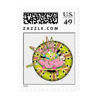 Watermelon Splash Frog Stamp