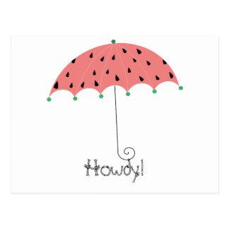 Watermelon Spring Umbrella Postcard