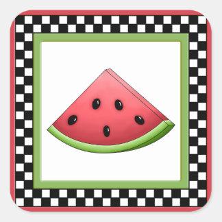 Watermelon Square Checkerboard Stickers