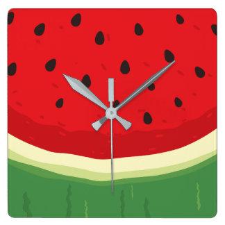 Watermelon Square Wall Clock