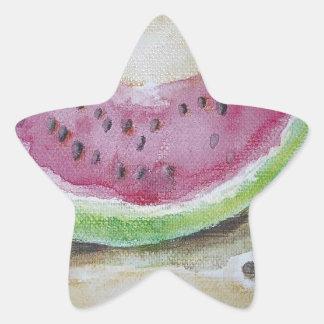 Watermelon Star Sticker