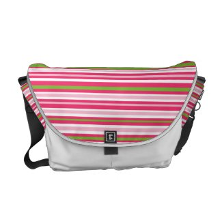 Watermelon Stripes Messenger Bag rickshawmessengerbag