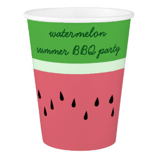 Watermelon Summer BBQ Party Personalized Paper Cup