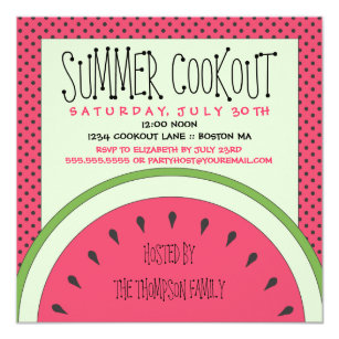 cookout invitations zazzle