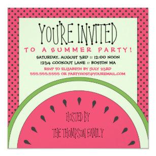 summer party invitations zazzle