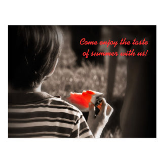 Watermelon Summer Party Invitation Postcard