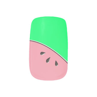 Watermelon Taste of Summer French Tip Classic Minx® Nail Wraps